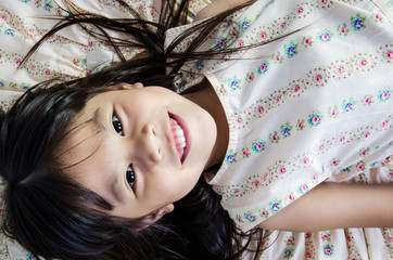Portrait Of happy asian cute Girl