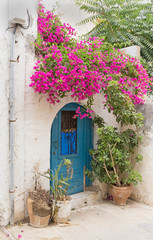 entrance door to the Mediterranean house