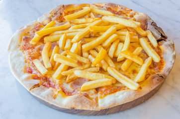 French fries Pizza