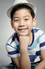 Portrait of little asian cute boy