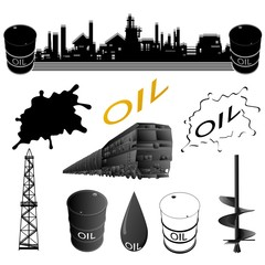 Set oil industry facilities
