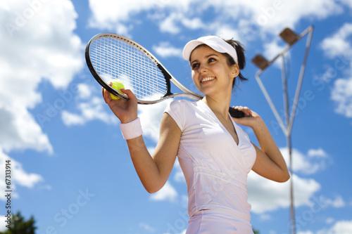 Fototapeta Girl Playing Tennis