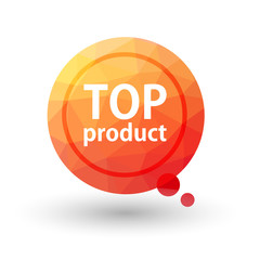 TOP PRODUCT triangular vector bookmark label.