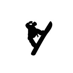snowboard silhouettes, black on the white background