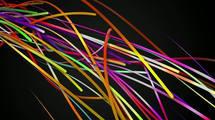 Rainbow Stripes Line Loop Animation Dark  Background