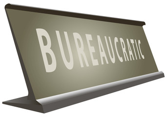 Table office signs bureaucratic
