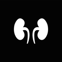 Kidneys symbol, vector illustration