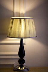 Table lamp in the bed room