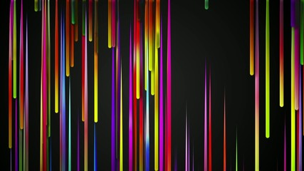 Rain drop Rainbow Line  Loop Animation Dark Background