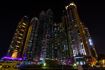 General view of the Dubai Marina at night #2
