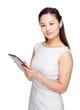 Woman use digital tablet