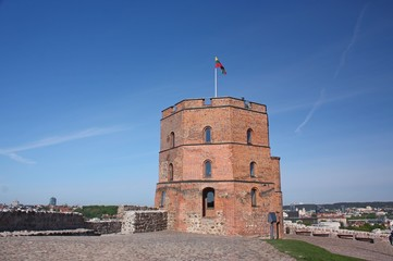 Gediminas Tower on Castle Hill in Vilnius, Lithuania