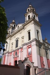 Catholic church of St. Raphael in Vilnius. Lithuania