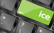 ice word on computer pc keyboard key
