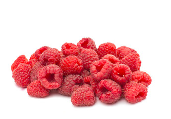 fresh raspberries isolated