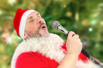 Huge Santa Claus belting Ho-ho-ho