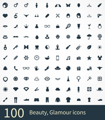 100 beauty, glamour icons