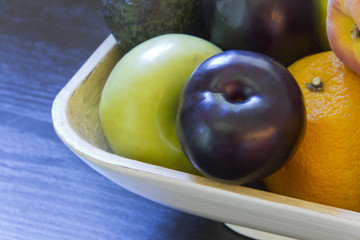 Fruit Bowl Plum Avocado