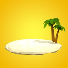 summer holiday background with low poly style