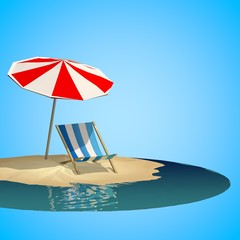 summer holiday with low poly style
