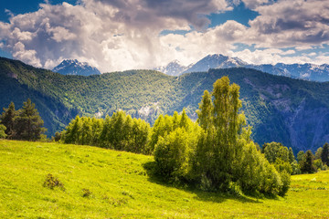 mountain landscape of georgia