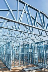 Steel framework under construction