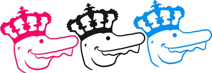 3 T-Rex Könige Freunde Team mit Krone