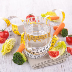 water and dietetic vegetable