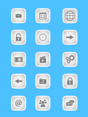 Collection of icons for mobile applications and web