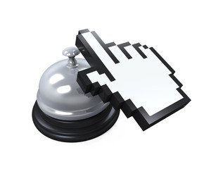 Reception Bell and Hand Cursor