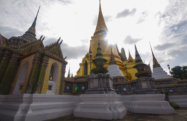 Wat Phra Kaew with morning sunlight
