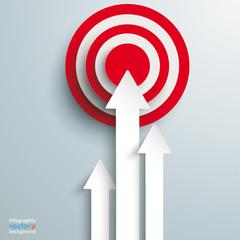 3 Arrows Red Target