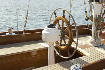 sailboat detail helm