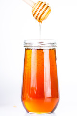 Pure Honey diping and dipper isolated