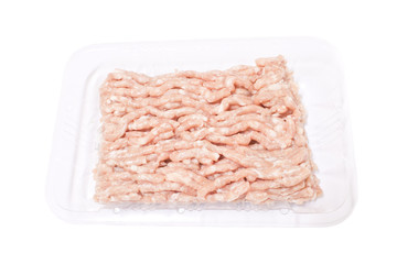 Mashed raw pork