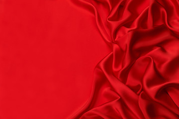 Red silk textile background