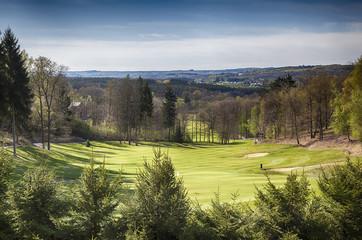 spring golf field