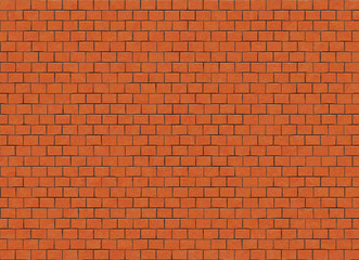 red small brick hi-res wall pattern