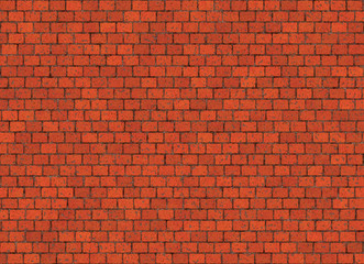 hi-res red small brick wall pattern