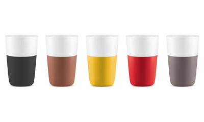 Coffee cups isolated. Set. Vector illustrtation