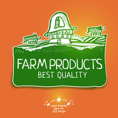 Graphic farm product label