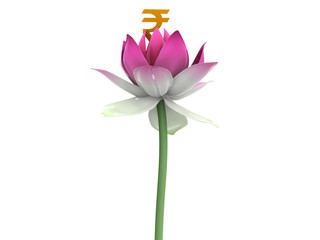 Rupee in 3d lotus