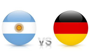 Argentina vs. Germany - icons with national flags