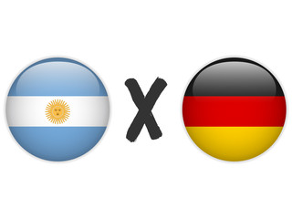 Argentina versus Germany Flag Soccer Game