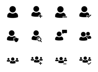 User icons set. Vector illustration