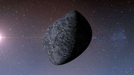 Asteroid in deep space.