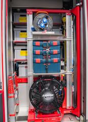 Interior of a modern Dutch fire truck