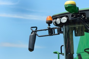 Combine Harvester in close up detail