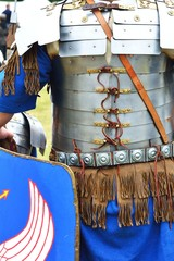 Roman soldier in blue armour
