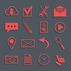 red icons for web and mobile applications